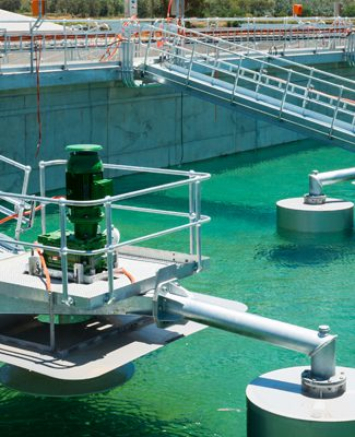 control systems of sewage treatment plant