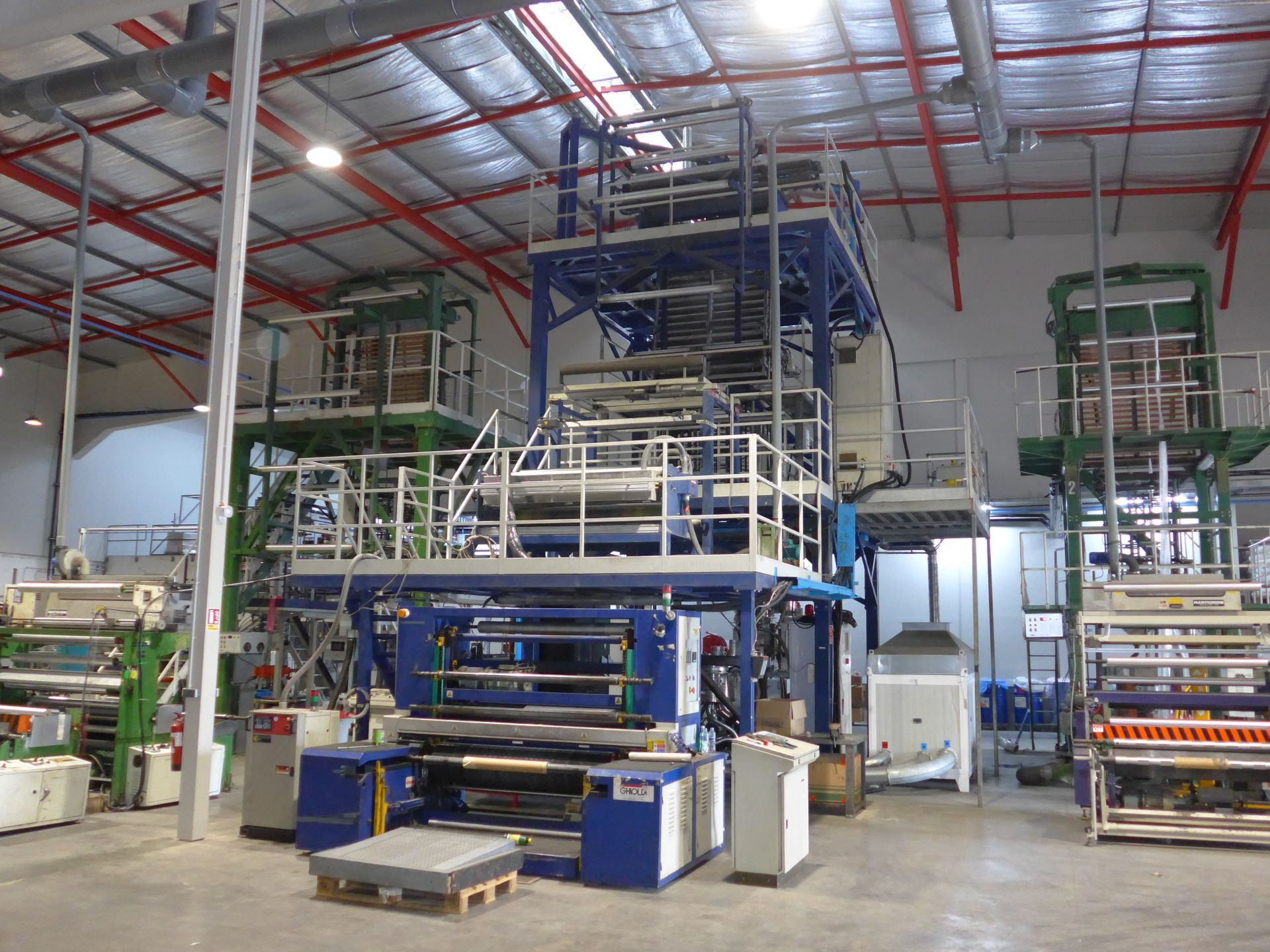 Industrial transfer packaging production plant